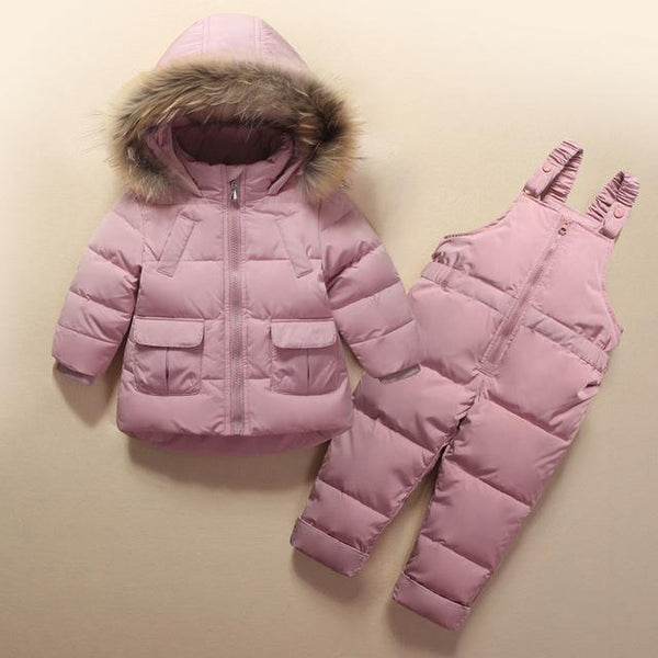 Alex + Nova Noelle Fur Hooded 2-Piece Snowsuit Set - Alex + Nova