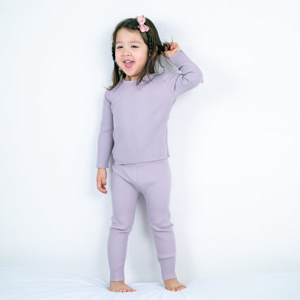 HipZoo Organic Cotton Ribbed Pajama Set - Alex + Nova
