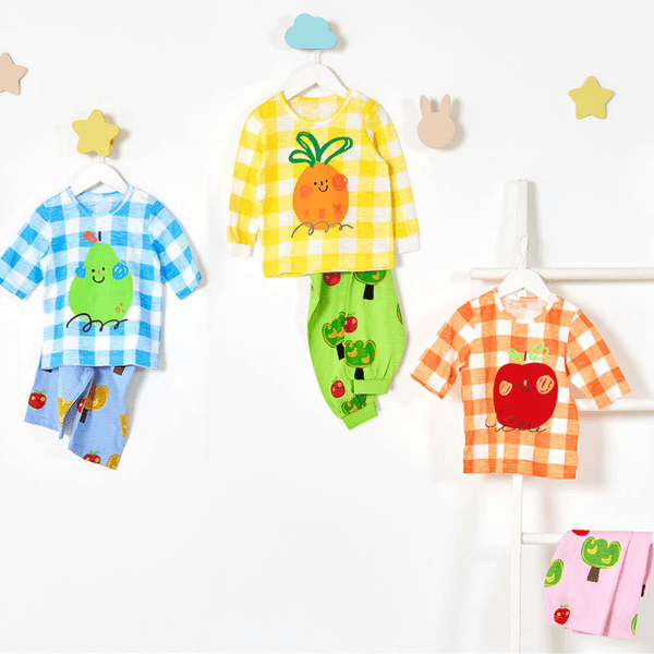 Alex + Nova Organic Cotton Smiling Fruits Summer Mid Playset - Alex + Nova