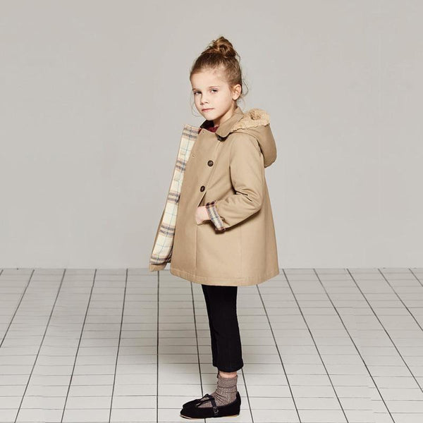 Alex + Nova Brook Hooded Winter Trench Coat - Alex + Nova