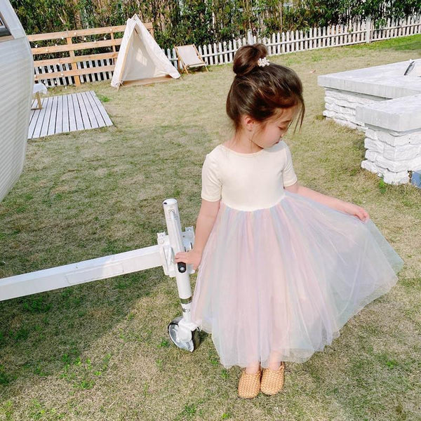 Alex + Nova Pastel Rainbow Tutu Dress - Alex + Nova
