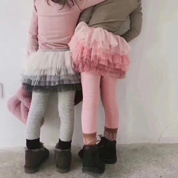 Alex + Nova Gradient Tutu Plush Skirt Leggings - Alex + Nova