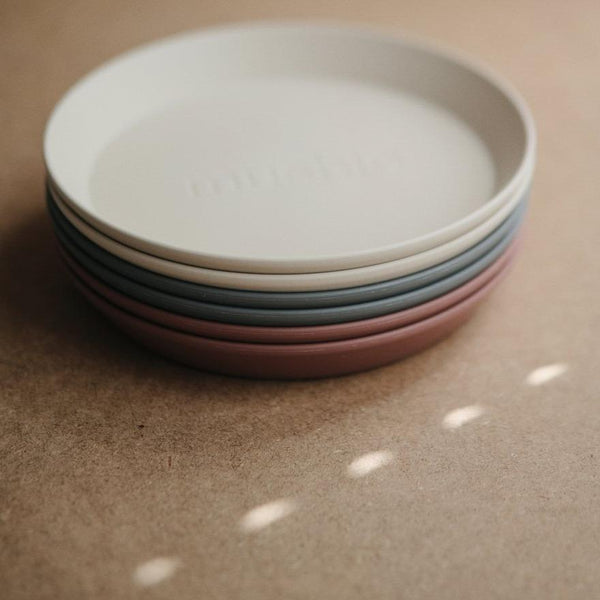Mushie Round Dinnerware Plates [Set of 2] - Alex + Nova