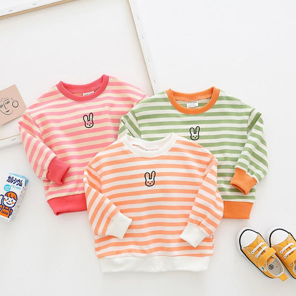 Alex + Nova Tiny Bunny Stripes Top - Alex + Nova