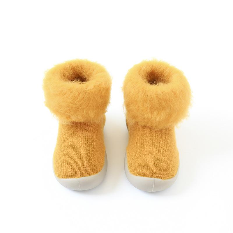 Alex + Nova Solid Colored Winter Plush Booties - Alex + Nova