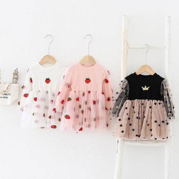 Alex + Nova Strawberry & Stars Tulle Dress - Alex + Nova
