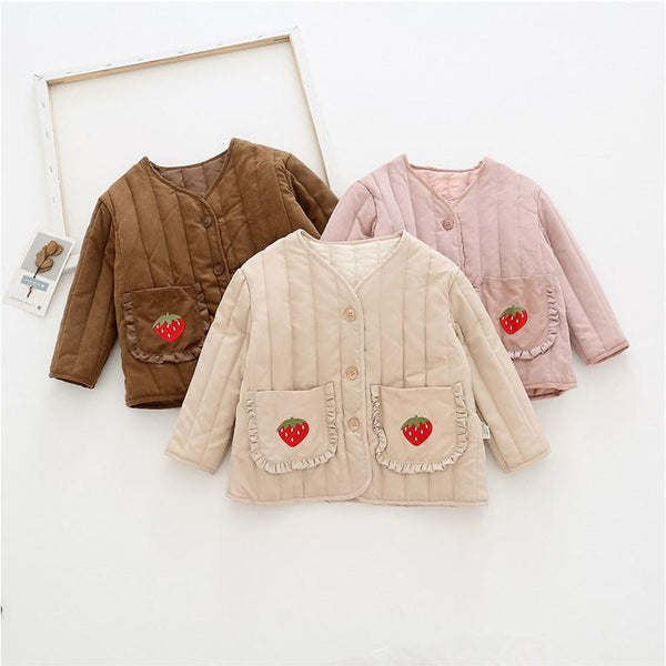Alex + Nova Sweet Strawberry Padded Jacket - Alex + Nova