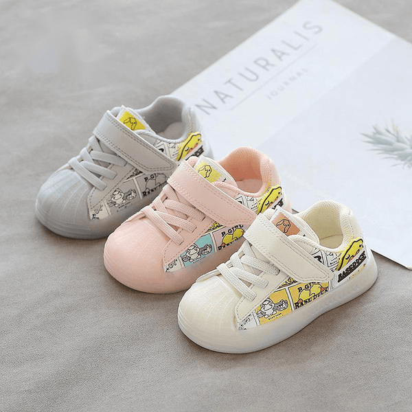 Alex + Nova Yellow Duck Cartoon Sneaker Shoes - Alex + Nova