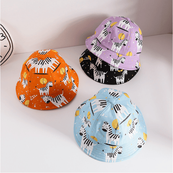 Alex + Nova Cartoon Zebra Baby Bucket Hat - Alex + Nova