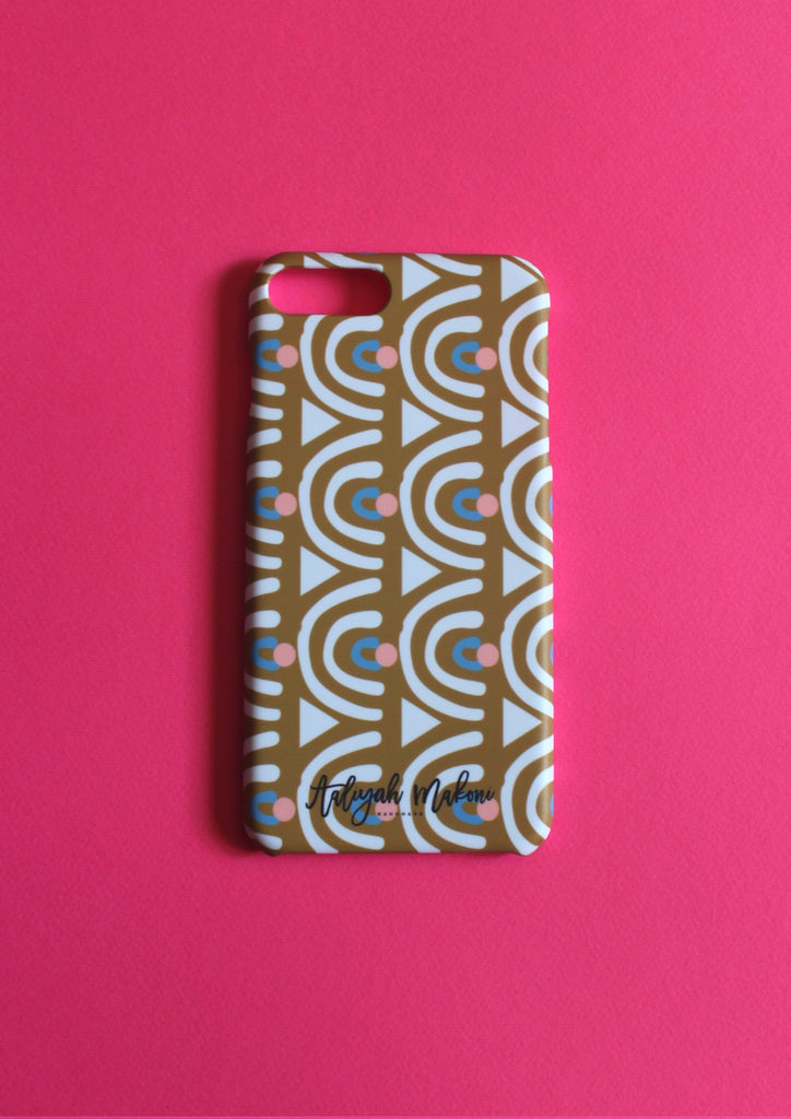 Green tribal print phone case