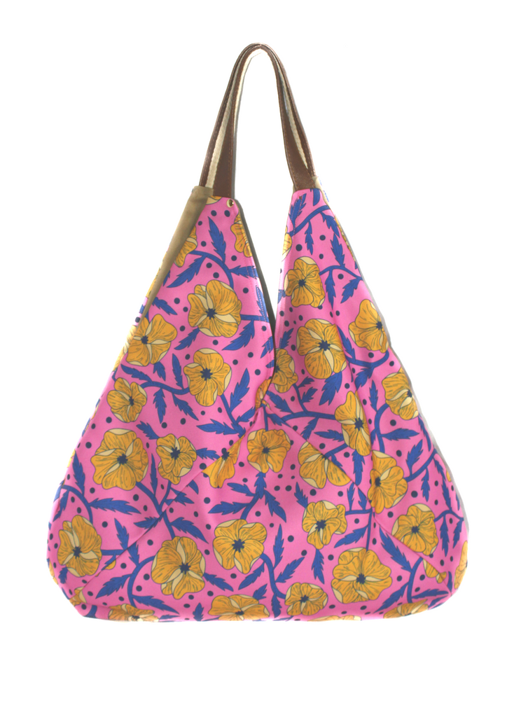 Wild flowers hobo bag