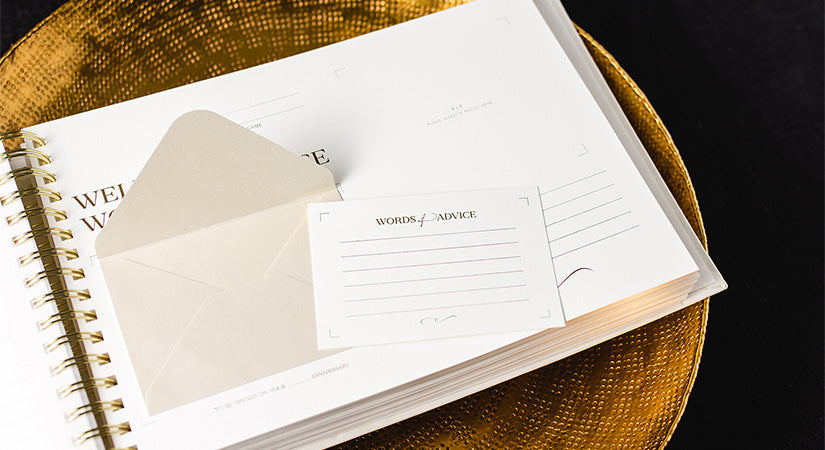 The Art of Etiquette Wedding Guest Book Page
