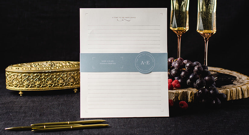 The Art of Etiquette Wedding Guest Book Toast Sheets