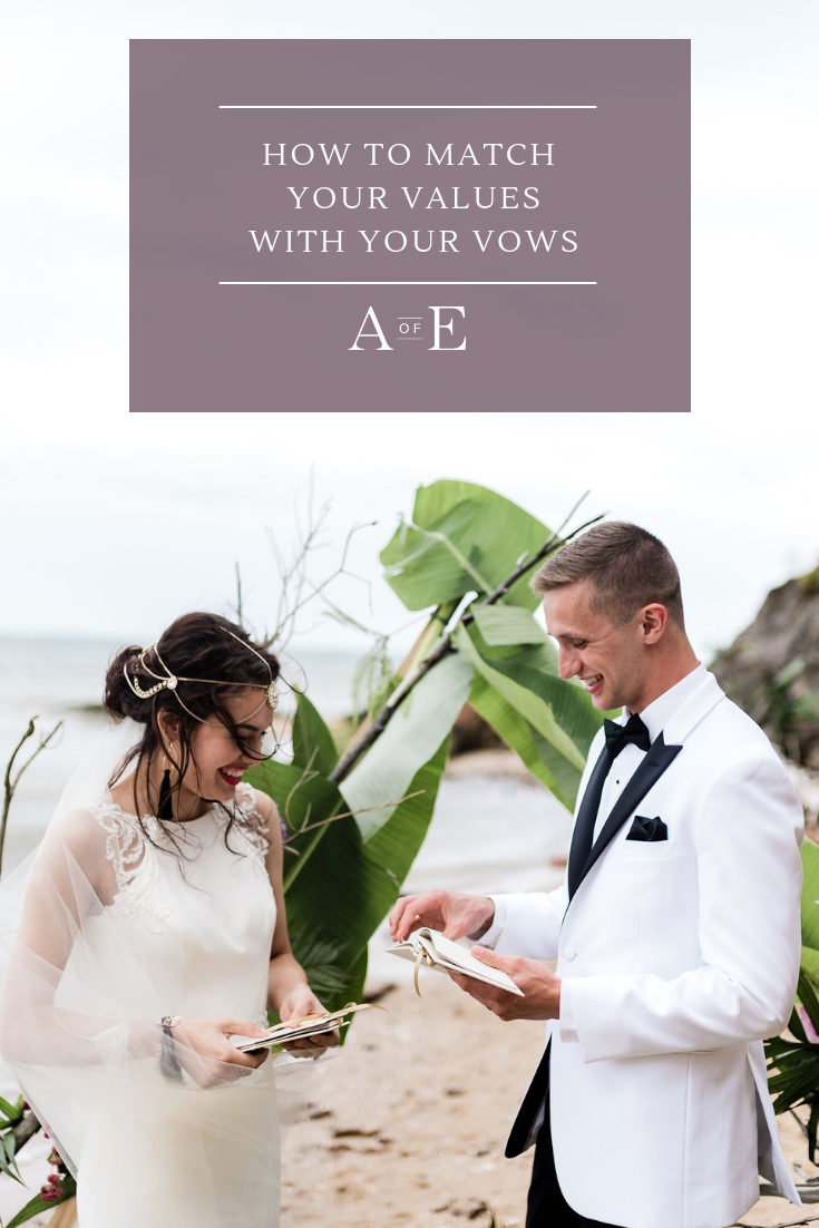How will you write your wedding vows? Will you make them funny and playful or sentimental and romantic? It is an exciting process that will make your wedding day truly special and unique to you and your significant other. Not sure how to get started writing your custom wedding vows? Read our blog post to get some prompts and tips to help you get started. #vowbooks #weddingvows #customweddingvows #personalizedweddingvows Photo credit to: April Elizabeth Photography