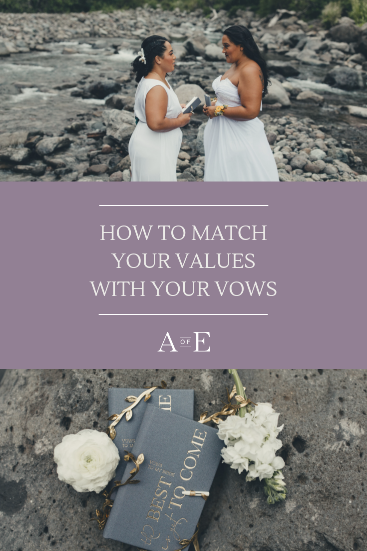 How will you write your wedding vows? Will you make them funny and playful or sentimental and romantic? It is an exciting process that will make your wedding day truly special and unique to you and your significant other. Not sure how to get started writing your custom wedding vows? Read our blog post to get some prompts and tips to help you get started. #vowbooks #weddingvows #customweddingvows #personalizedweddingvows Photo credit to: Stephanie Betsill Photography