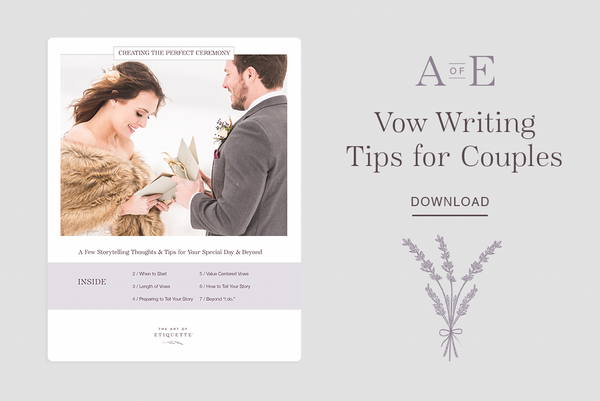 Vow Writing Tips for Couples