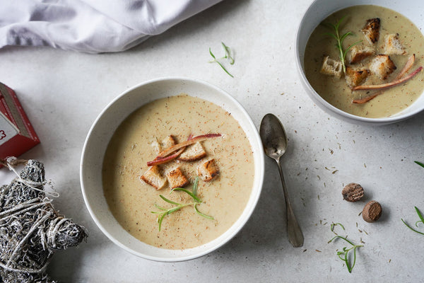 Creamy Cauliflower and Chestnut Soup - Hanna Sillitoe