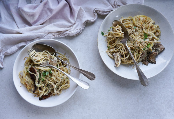 Vegan King Oyster Carbonara