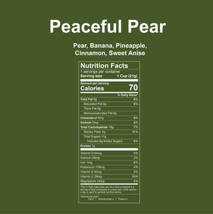 Peaceful Pear Ingredient List