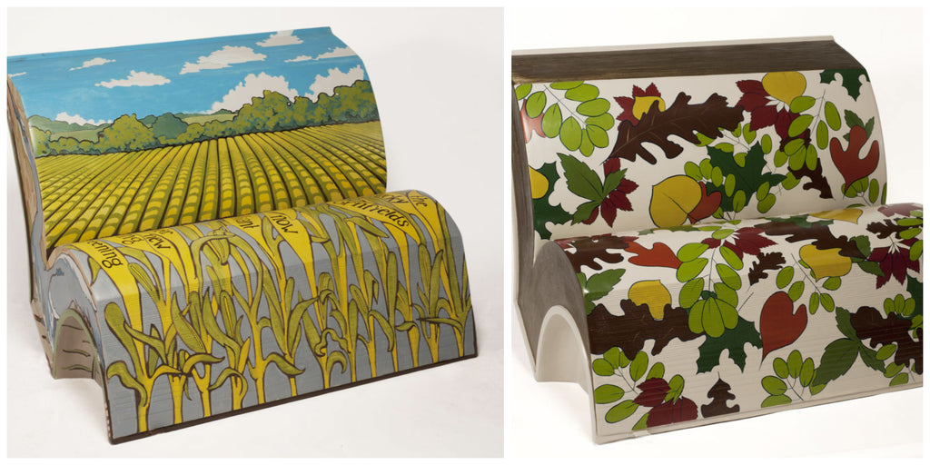 Book Bench Artists: Claudia Michler and Katherine Spears