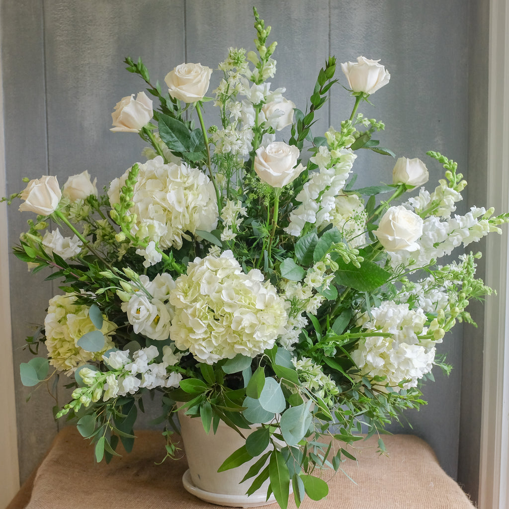 White Flower Bouquet by Michler Florist