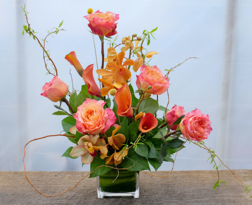 Thanksgiving Flowers with Cymbidium Orchids, Calla Lilies and Roses | Michler's Florist