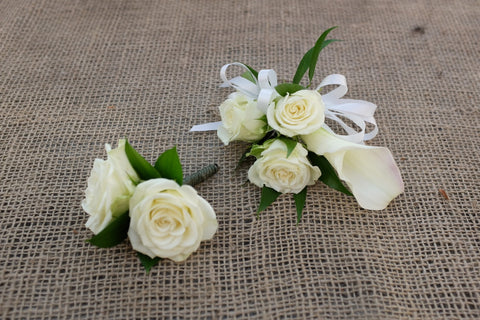 White Rose and Calla Lily Corsage | Michler's Florist