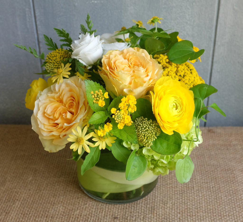 Lush bouquet of yellow flowers