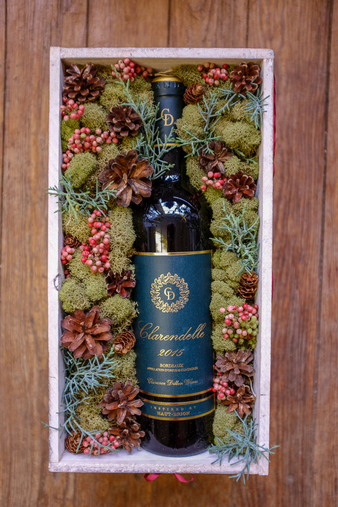 Christmas Wine Crate - Michler's Florist