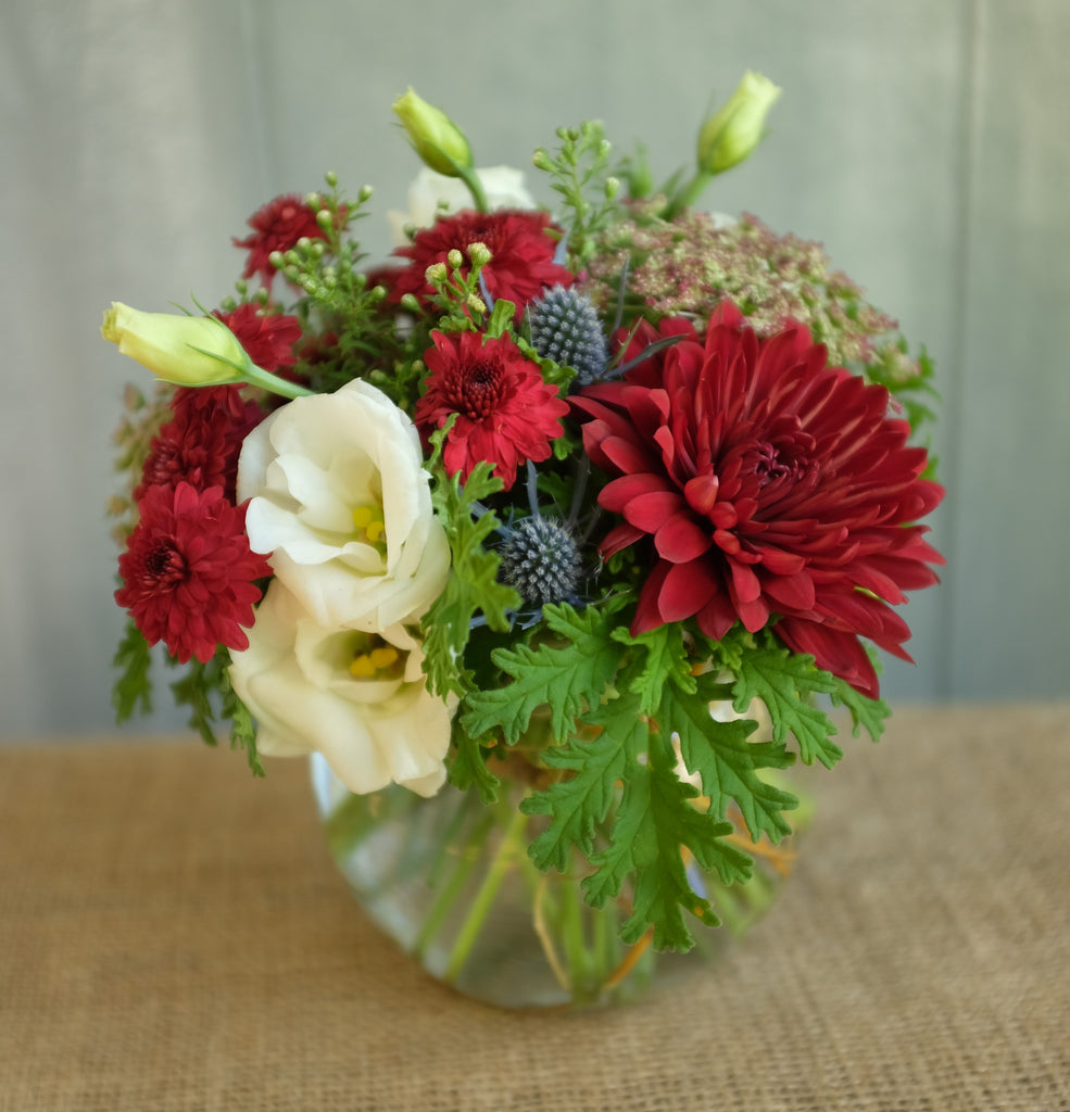 Rookwood: Small Arrangement of Summer Flowers - Dahlias and Lisianthus