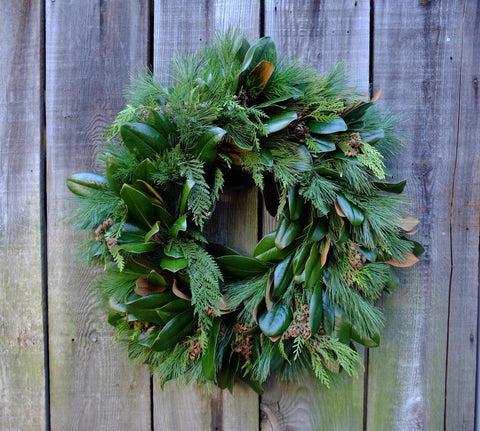 Evergreen Magnolia Wreath