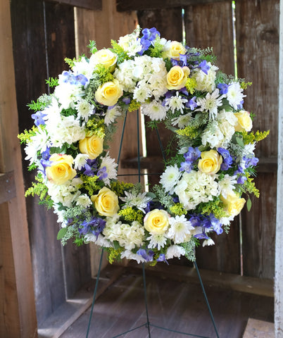 School Colors Sympathy Wreath