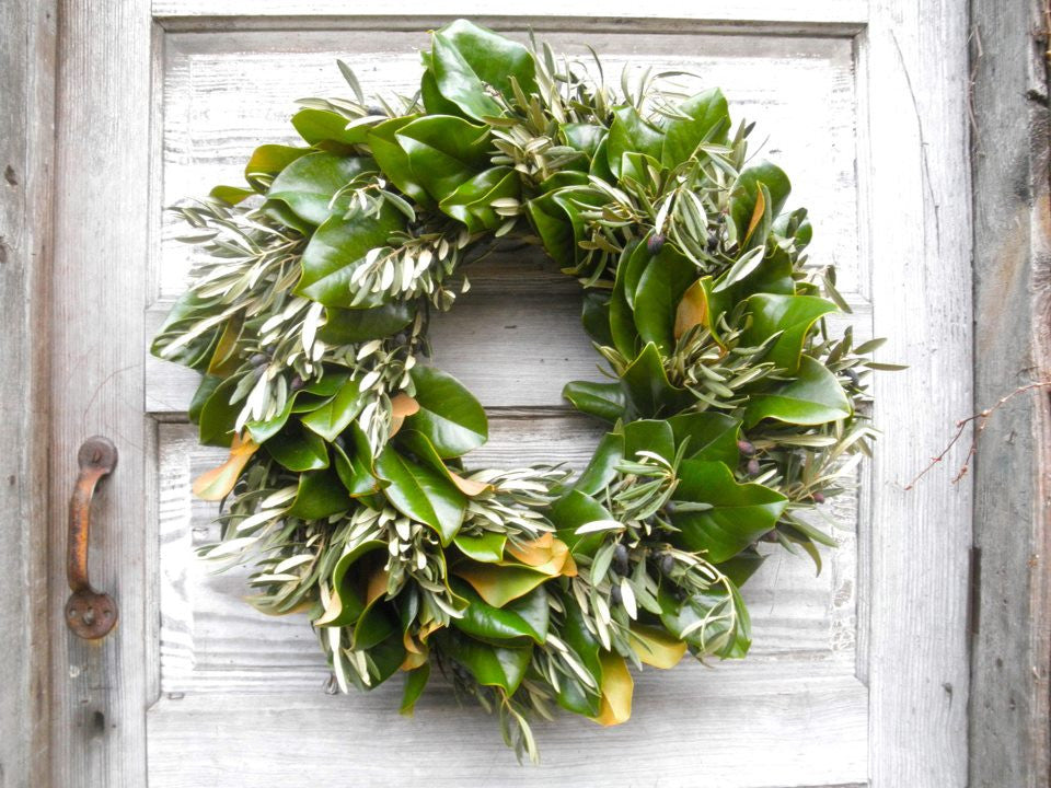 Magnolia and Olive Wreath | Michler's Florist