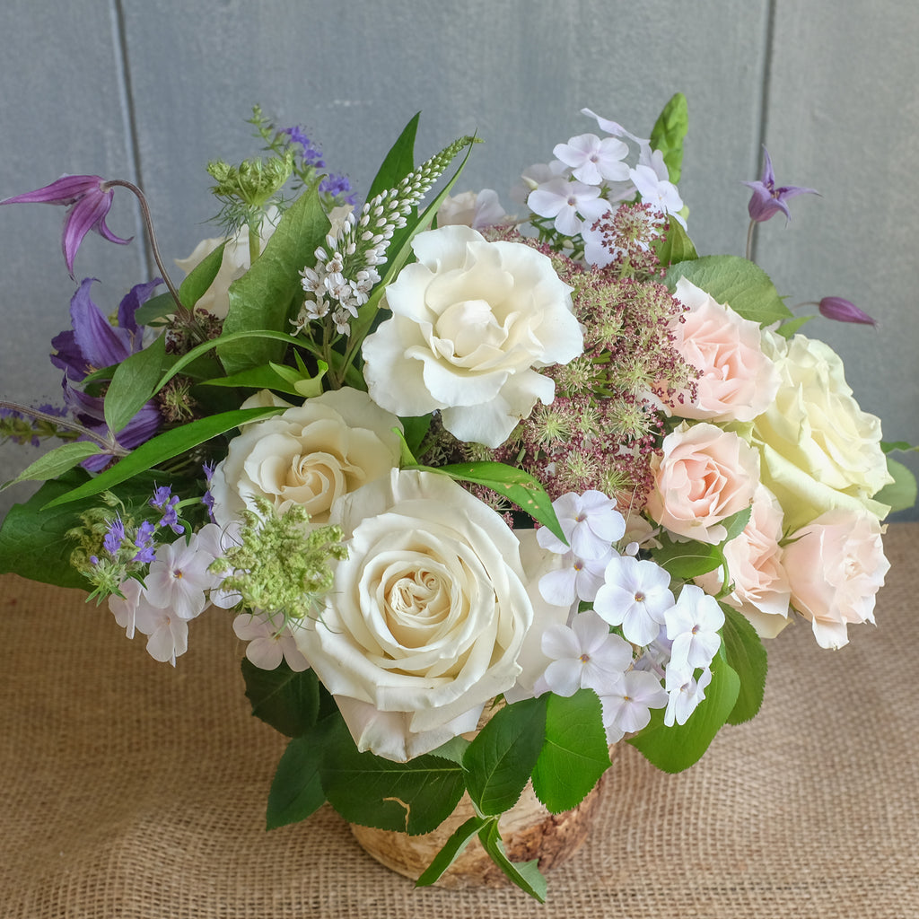 Garden gathered flower bouquet by Michlers Florist.