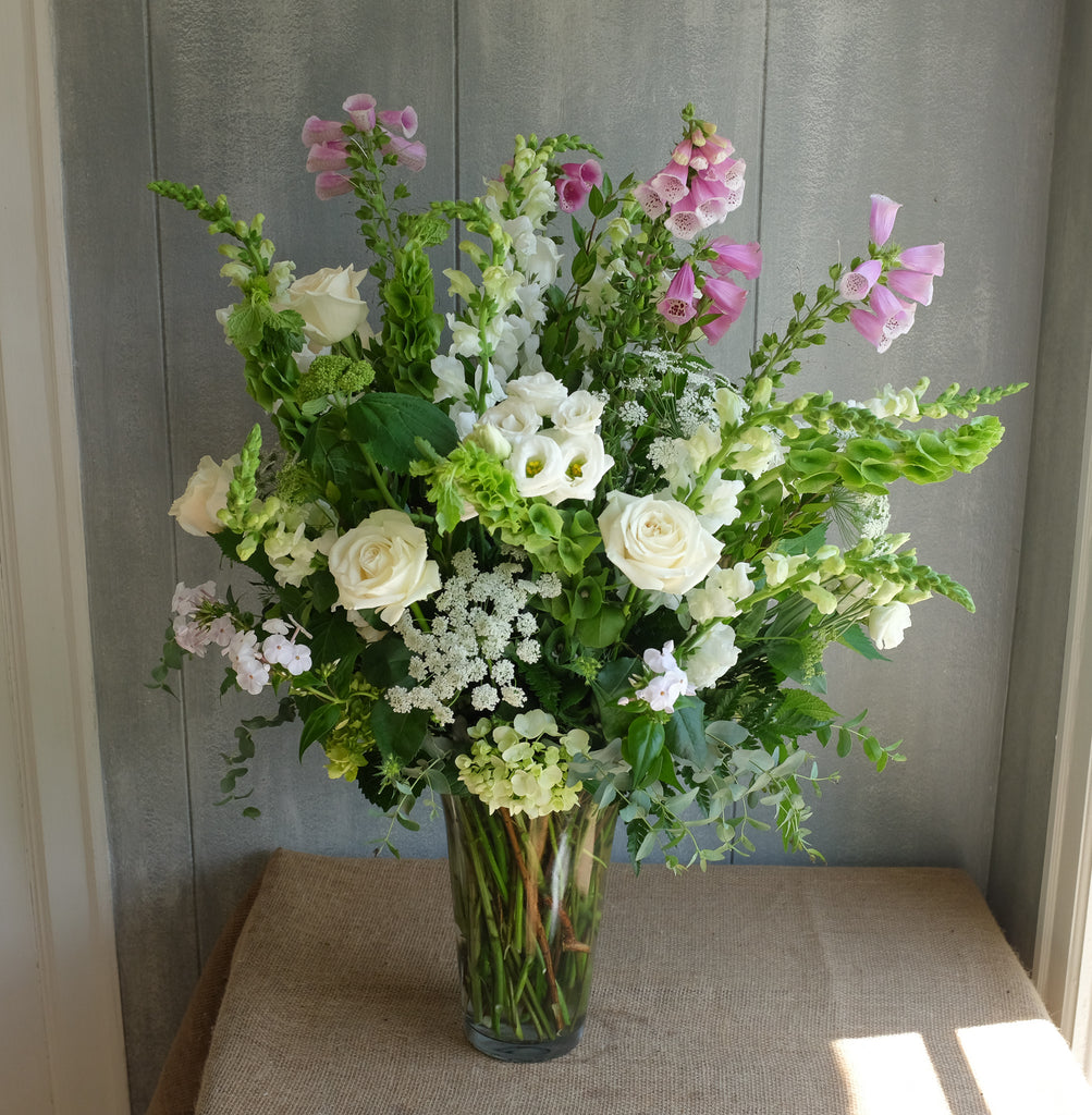 Large Pink and white flower arrangement