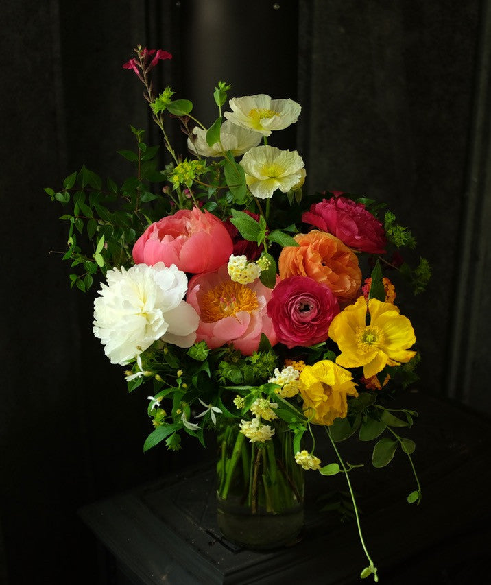 Prestige Floral Bouquet designed with peonies and poppies by  Michler's Florist in Lexington, KY
