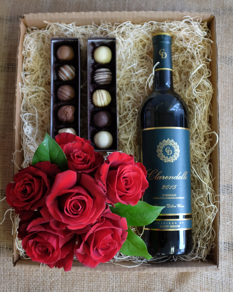 Red Rose Wine Box