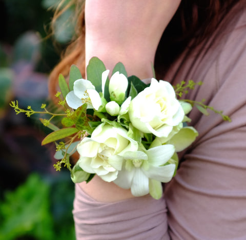 Roses and Dendrobium Orchid Corsage | Michler's Florist