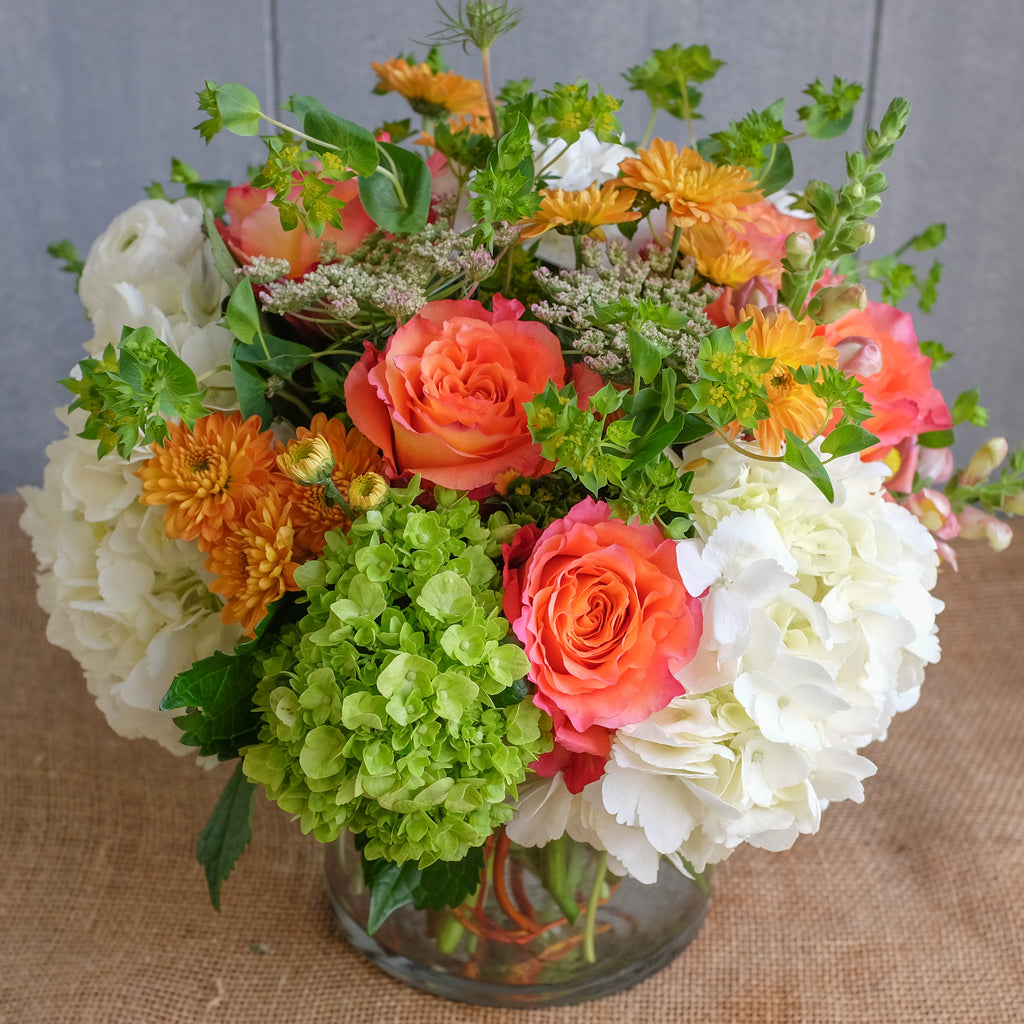 Flower bouquet by Michler Florist.