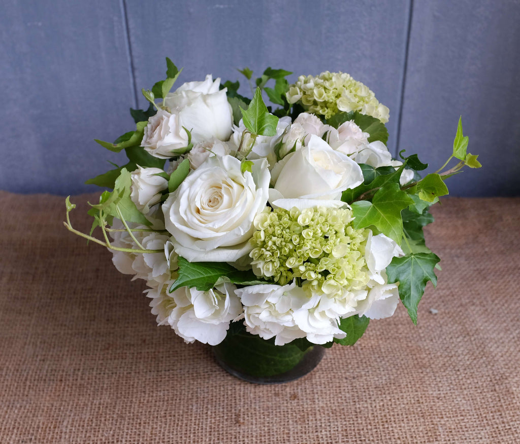 White and Green Flower Design with Michler's Florist in Lexington KY
