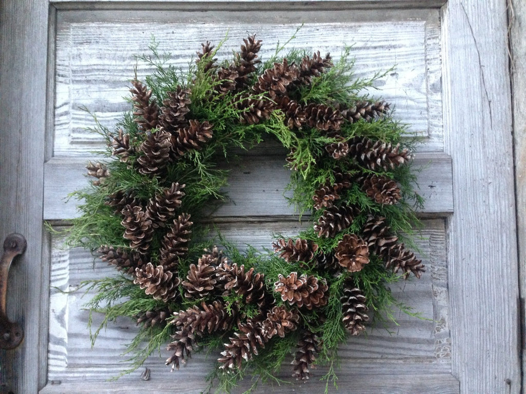 Woodland Wreath: Christmas Wreath made with Eastern Cedar and White Pine Cones | Michler's Florist