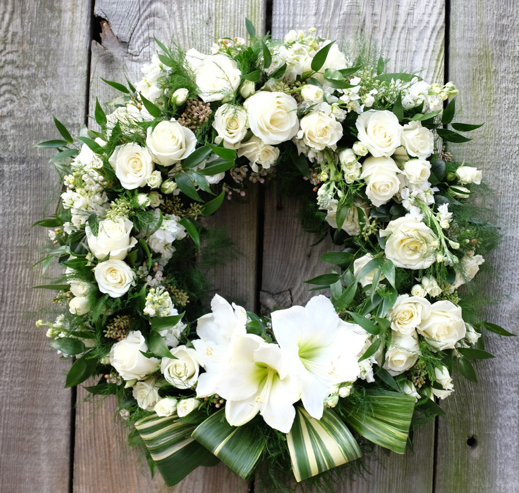 Prestige Floral Sympathy Wreath Designed by Michler's Florist in Lexington, KY