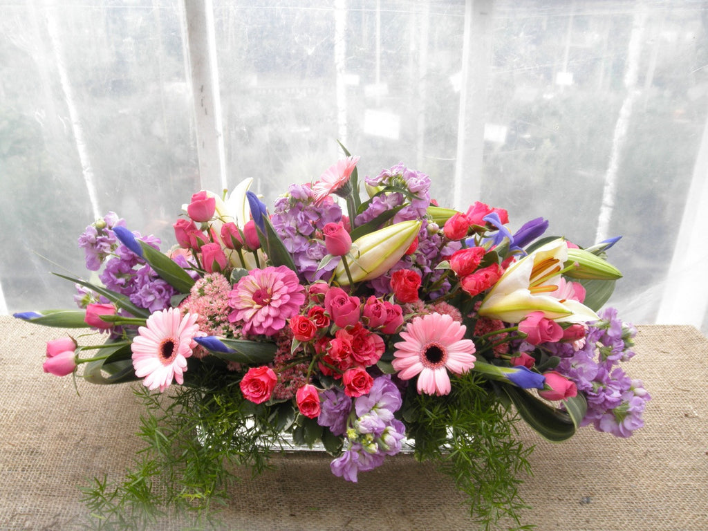 Easter flowers with pink and lavender | Michler's Florist
