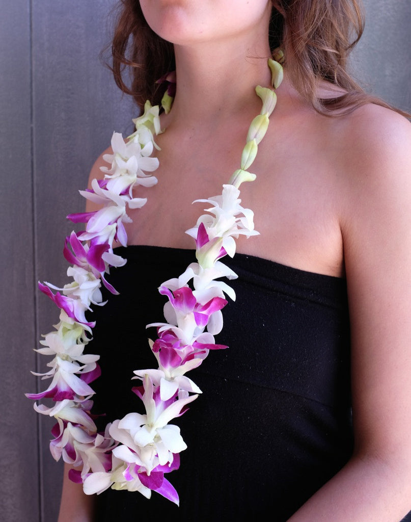 Orchid Leis with Dendrobium Orchids | Michler's Florist