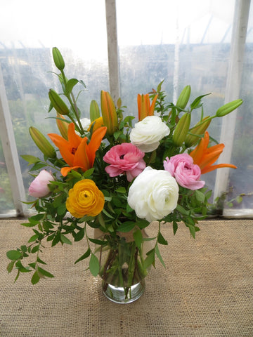Lilies and Ranunculus