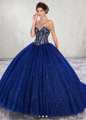 Quinceañera Night Blue Dress