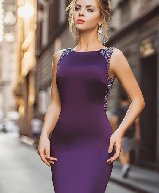 Mermaid Purple Dress