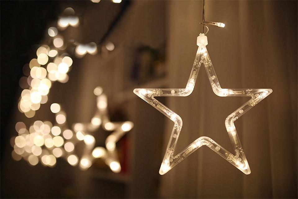 Christmas LED Star String Lights Decoration