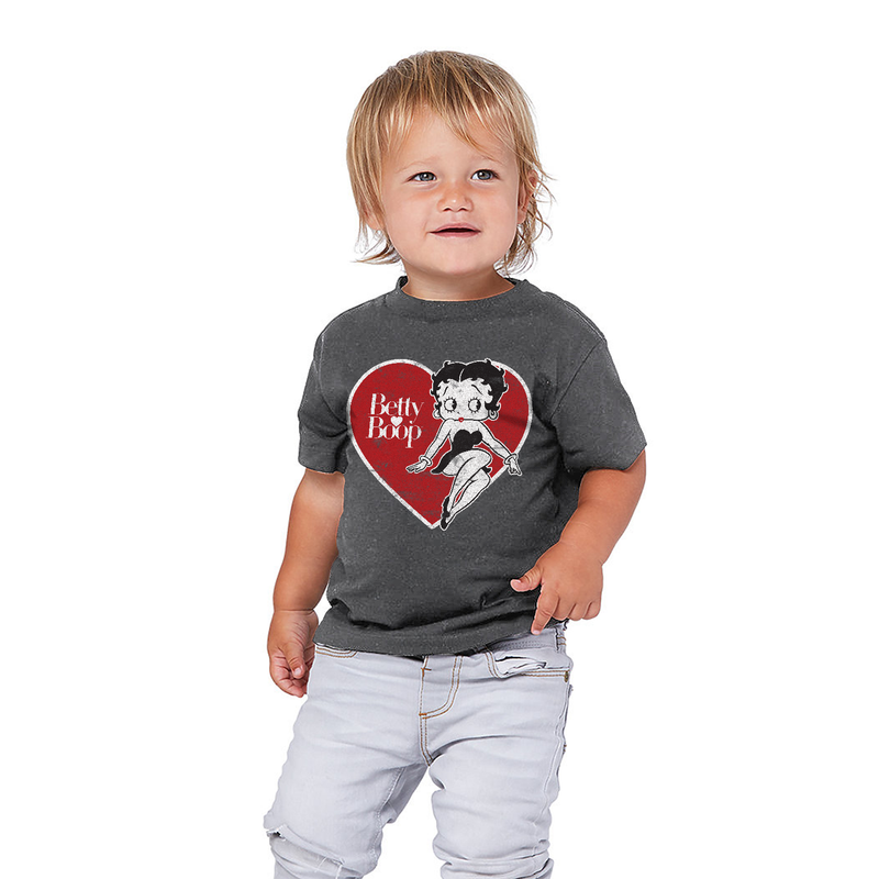 'Big Heart Betty' Toddler T Shirt Dark Heather