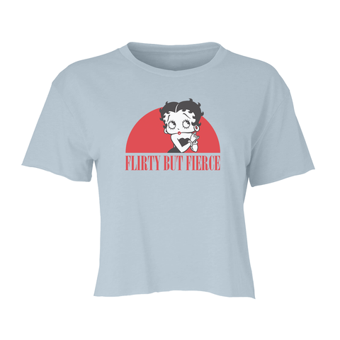 Betty Boop Face Embroidered White Unisex T-Shirt